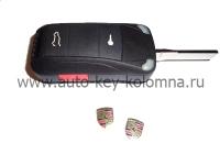 Porshe Cayenne  Выкидной ключ 2+1 кнопки,  ID46,  315Mhz